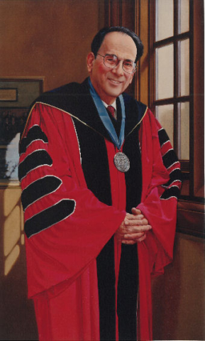 oil portrait of professor