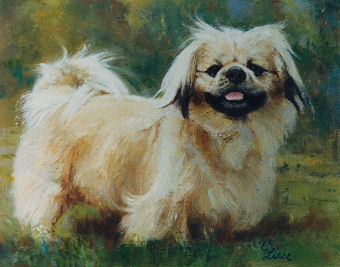 oil portrait of a dog