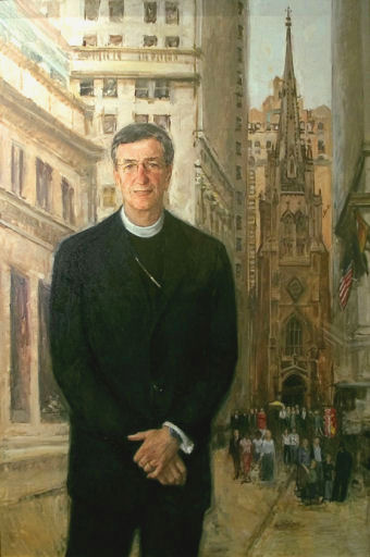 oil portrait of priest