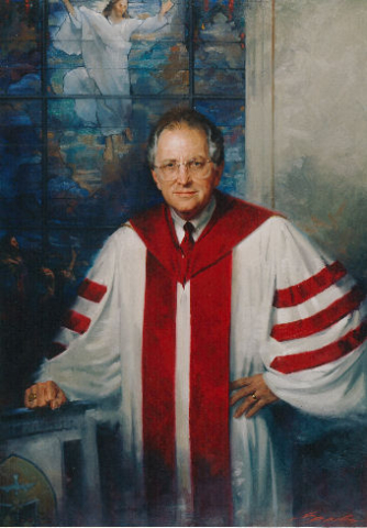 oil portrait of presbyterian minister Frank Harrington