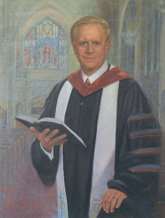 oil portrait of minister