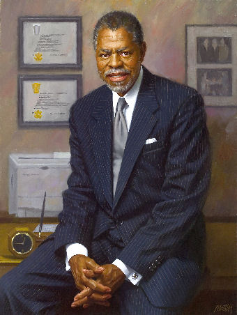 oil portrait of black politician