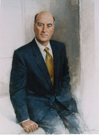 oil portrait of public figure