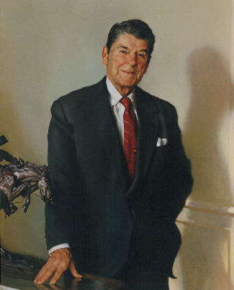 oil portrait of Ronald Reagan