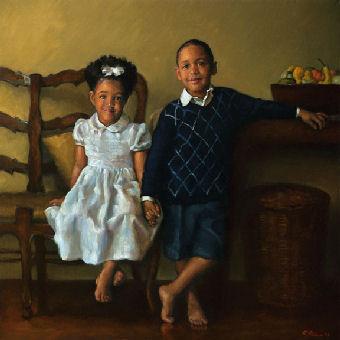 oil portrait of children