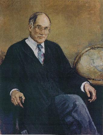 oil portrait of a judge