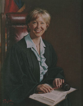 oil portrait of a female judge