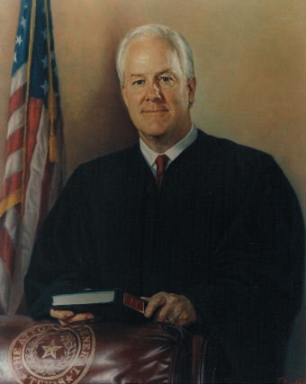 oil portrait of a judge standing