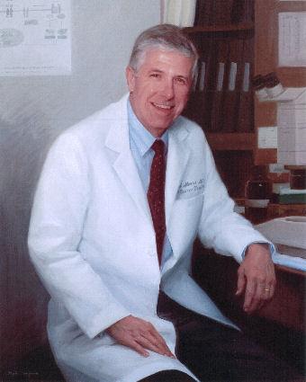 oil portrait of doctor sitting