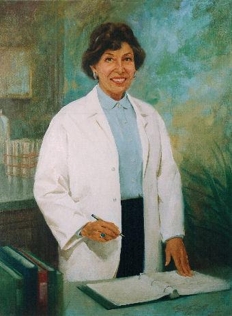 oil portrait of female doctor