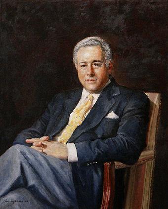 Oil portrait of man