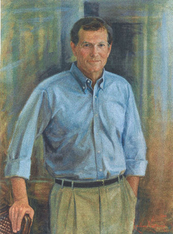 Oil portrait of man casual