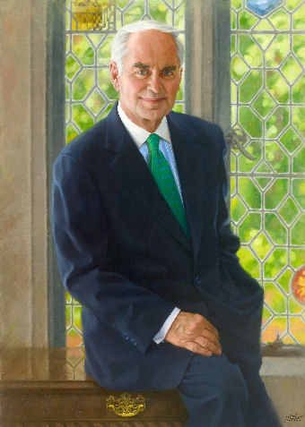 oil portrait of business ceo
